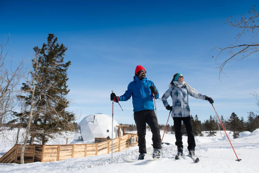 Cross-country skiing in Shippagan