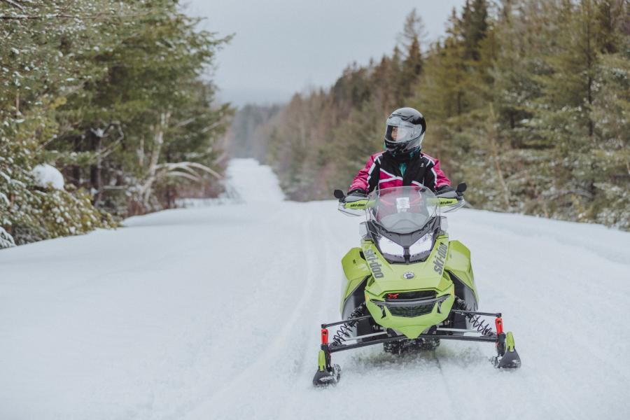 Winter Snowmobiling Mount Carleton