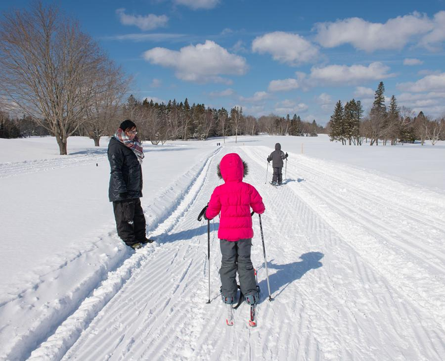 Cross-country skiing at Mactaquac Provincial Park
